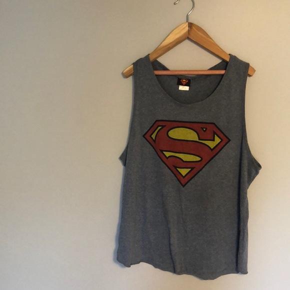 3/$25 Superman tank top